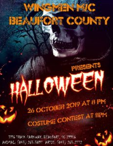 Beaufort County Wingmen Halloween Party @ Beaufort County Wingmen Clubhouse   Beaufort   South Carolina   United States