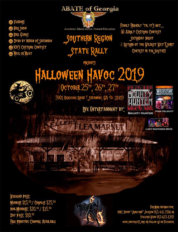 ABATE of Georgia Southern Region - Halloween Havoc @ Keller's Flea Market   Savannah   Georgia   United States