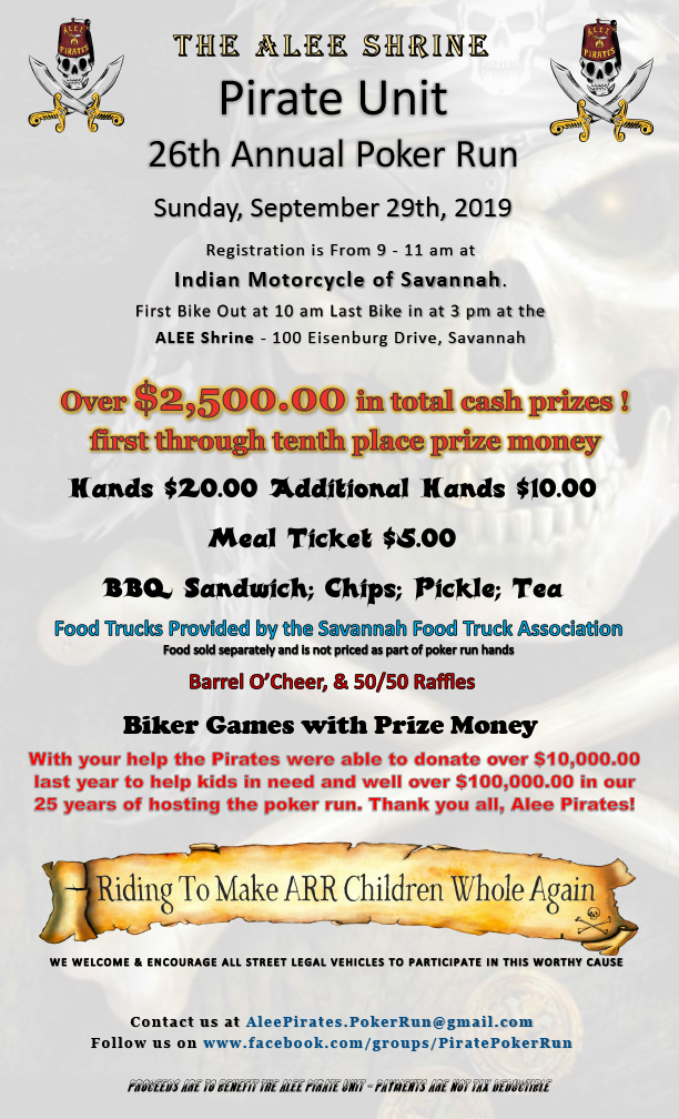 Alee Pirates - 26th Annual Poker Run @ Indian Motorcycle of Savannah | Savannah | Georgia | United States